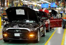 ford mustang assembly plant tour 2015 ford mustang production starts at flat rock plant