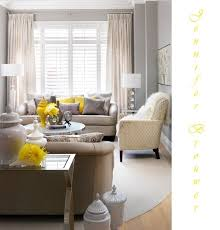 Best Gray Yellow Living Room With Pops Of Red Or Blue Images - Yellow living room decor