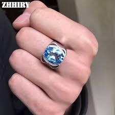 natural gem rings images Men rings genuine natural topaz gem man real 925 sterling silver jpg