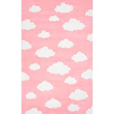 Dot Rug Nuloom Cloudy Sachiko Pink 5 Ft X 8 Ft Area Rug Bhev28b 508