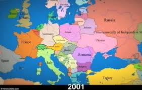 map of europe russia and the independent republics time lapse shows constantly changing borders in europe