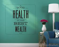 health is the best wealth wall decal health vinyl wall art zoom