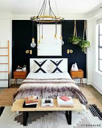 Bedroom With Yellow Accent Wall Black Accent Wall Manly Boho Bedroom Master Bedroom Design