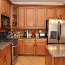 dining u0026 kitchen copper caramel rta kitchen cabinets with large