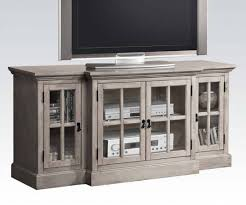 Julian Curio Cabinet Julian Gray Wood Tv Stand W 4 Glass Doors Entertainment The