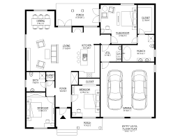 Simple 1 Floor House Plans by Simple House Floor Plans Top Cottage Style House Plan Beds Baths