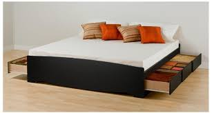Plans For A King Size Platform Bed With Drawers by King Size Storage Bed Glamorous Bedroom Design