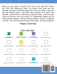 amazon com my color test reference book for coloring book