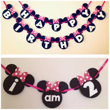 Mickey Mouse Chair by Simple Minnie Mouse Birthday Banner And High Chair Banner