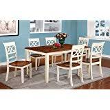 Country Style Dining Table And Chairs Amazon Com White Dining Room Set With Bench This Country Style