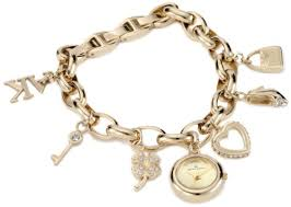 anne klein charm bracelet watches images Ak gold charm bracelet watch bracelets jewelry jpg