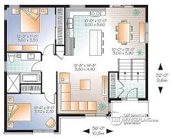 floor plan of a bungalow house w3323 v2 affordable split entry modern bungalow house plan with
