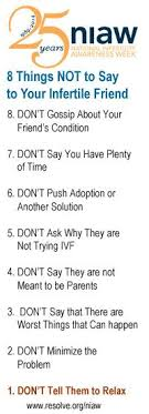 what to say to to be don t what to do with all that infertility and ttc