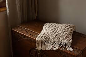 macrame pillow cover macrame pillow case fringe pillow cover