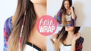 boho hair wrap diy summer hair wrap laurdiy