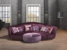 Purple Sectional Sofa Estro Salotti Allegretto Modern Purple Fabric Sectional Sofa