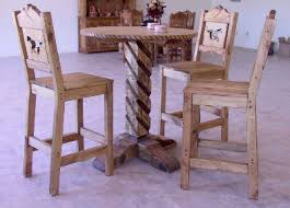 western style moutain bar stools and pub table