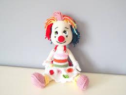 Collectible Home Decor Crochet Clown Doll Amigurumi Kids Toys Gift Ideas Home Decor