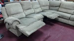 reclining sectional with chaise and cup holders leather recliner