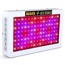 hydroponic led grow lights led grow light mars hydro 600w full spectrum veg flower indoor