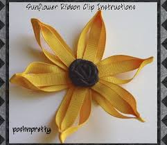 sunflower ribbon how to make the sunflower ribbon clip 1 50 posh