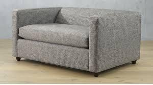 Sleeper Loveseat Sofa Movie Salt And Pepper Twin Sleeper Sofa Chair Cb2