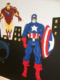 marvel superheros mural cheshire