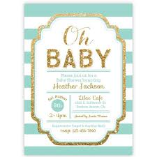 baby shower invitations pink and gold glitter baby shower invitation aditional colors