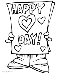 happy valentine coloring pages valentine coloring pages of
