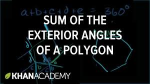 sum of the exterior angles of convex polygon geometry khan