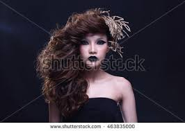 hairshow guide for hair styles beauty portrait hair style beautiful woman stock photo 464300513