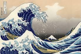 art wallpaper murals murals wallpaper the great wave off kanagawa by hokusai mural