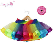 cheap tulle rainbow skirt children clothing toddler birthday tutus skirt