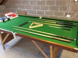 4ft pool table folding snooker table 8ft x 4ft fold away legs all accessories included