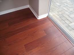 How To Install Floating Laminate Flooring Finished Laminate Flooring At Sliding Glass Door Laminate