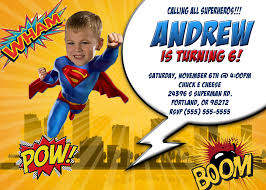 Sample Of 7th Birthday Invitation Card Superman Bday Invitation Cloveranddot Com