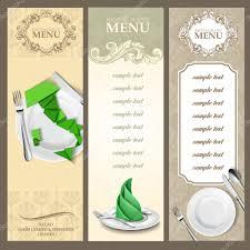 beautiful menu template u2014 stock vector mollicart 88395346