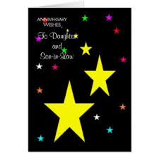 Anniversary Wishes To Daughter And Daughter And Husband Wedding Anniversary Greeting Cards Zazzle Co Uk