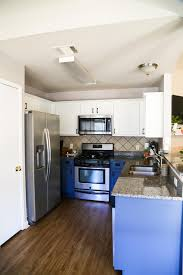 best paint to redo kitchen cabinets our diy blue white kitchen cabinets renovations