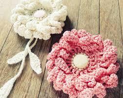 Girls Favourite Flowers - pdf crochet flower pattern gerbera easy beginner photo