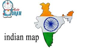 how to draw a map how to draw indian map by easy