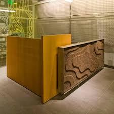 Aecom Interior Design Natural Fiber Decorative Panel For Interior Fittings Textured