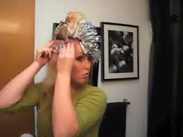 where to place foils in hair random foiling your own hair youtube