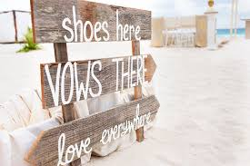 rock cancun wedding shoes here vows there everywhere sign for a destination