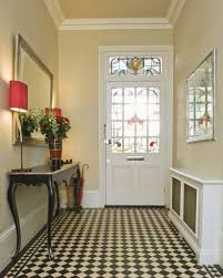 Table For Hallway Entrance by Makeovers And Cool Decoration For Modern Homes Black Glass Round