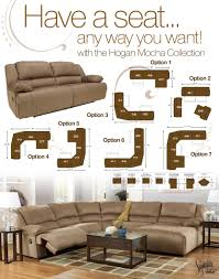 Marlo Furniture Sectional Sofa by 6 Piece Motion Sectional With Left Chaise And Console By Signature