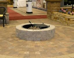 Stone Fire Pit Kit by Garden Choosing Pavestone As The Fire Pit Kit Lowes Fire Pit