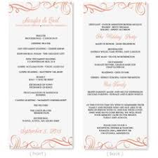 Tea Length Wedding Program Sale Printable Custom Diy Wedding Program By Littlepaperlantern