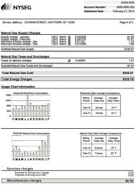understanding your bill with nyseg in new york state