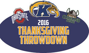 flashes host ohio state cleveland state in thanksgiving